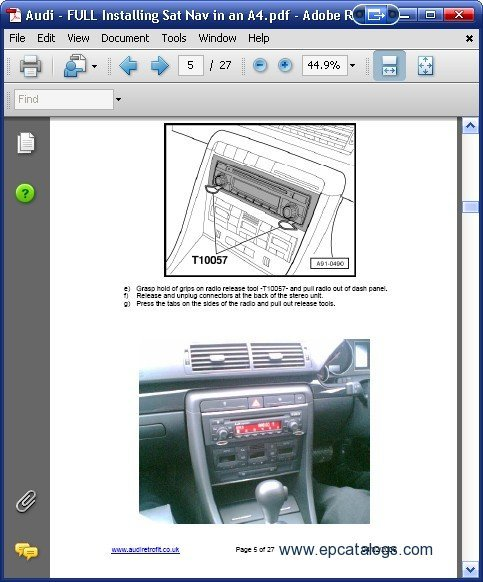 audi a4 installing rns-e sat nav, repair manual, cars catalogues, Wiring diagram