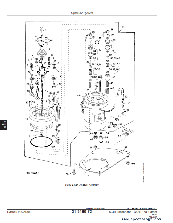 John Deere 624h Loader Tc62h Tool Carrier Pdf Manual