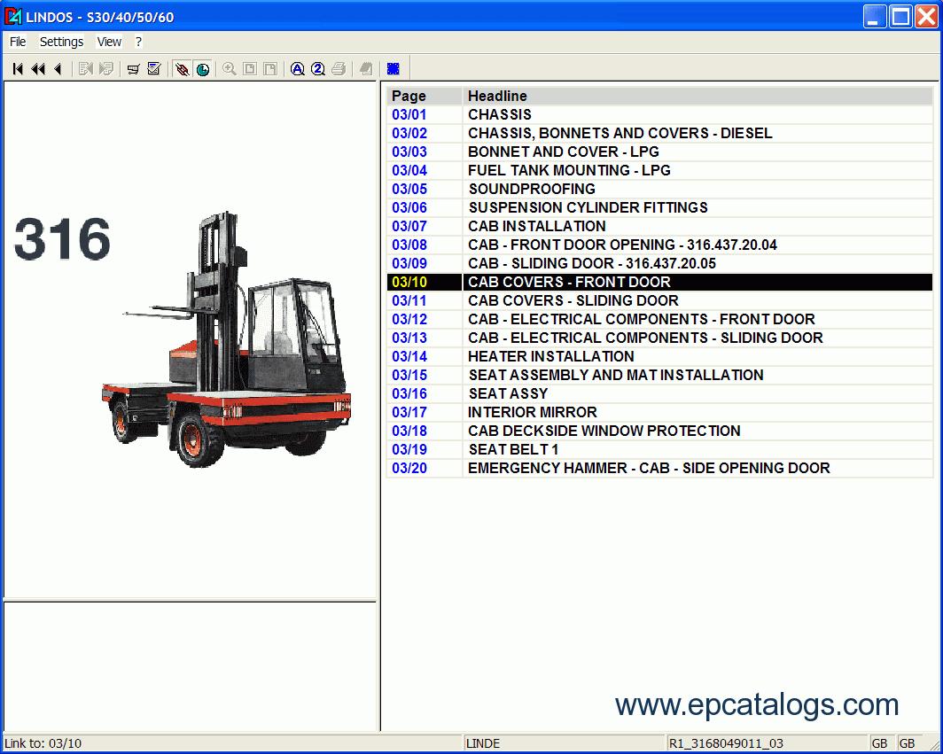 repair manual Linde Fork Lift Truck Spare Parts + Repair 2009 - 5