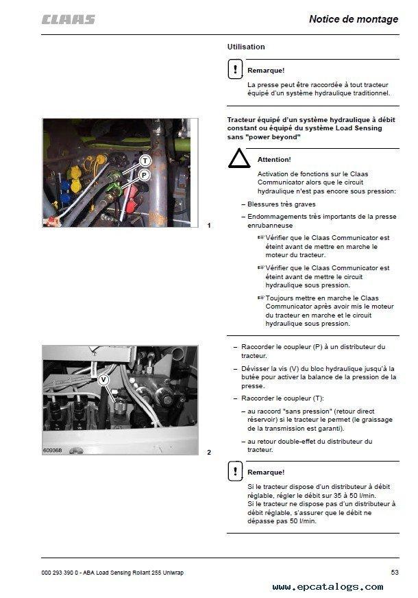 Claas Rollant 250    Rollant 250 Roto Cut Pdf Manuals