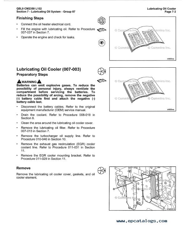 Cummins Engine QSL9 CM2350 L102 Service Manual PDF Volume 1