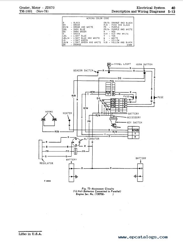 John Deere Jd570  Jd570a Motor Grader Tm