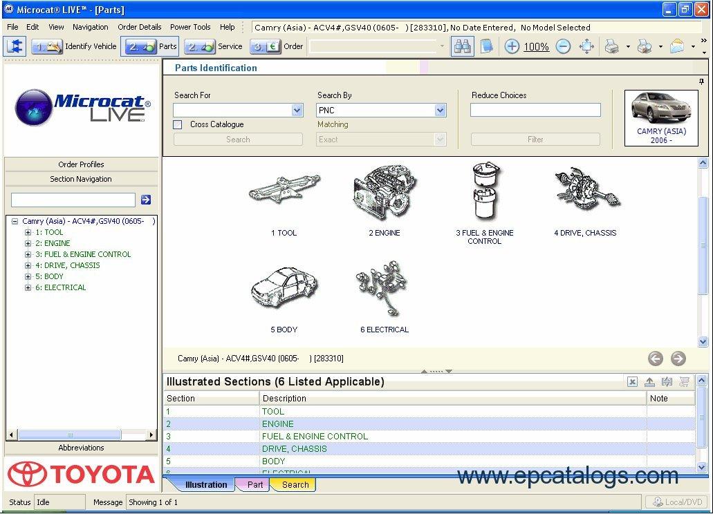 Toyota + Lexus + Scion Microcat Live 2011, repair manual, Cars ...