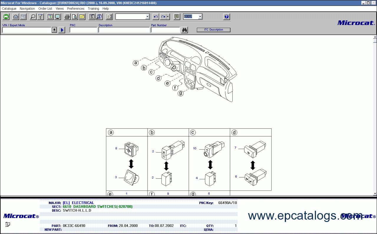 Kia Mcat Spare Parts Catalog Download Navigation Wiring Diagram 5