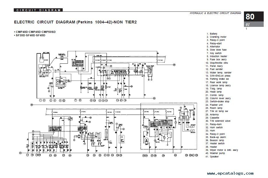 clark service manual sf35 45d l cmp40 50sd l clark c500 wiring diagram komatsu forklift wiring diagram, clark  at aneh.co