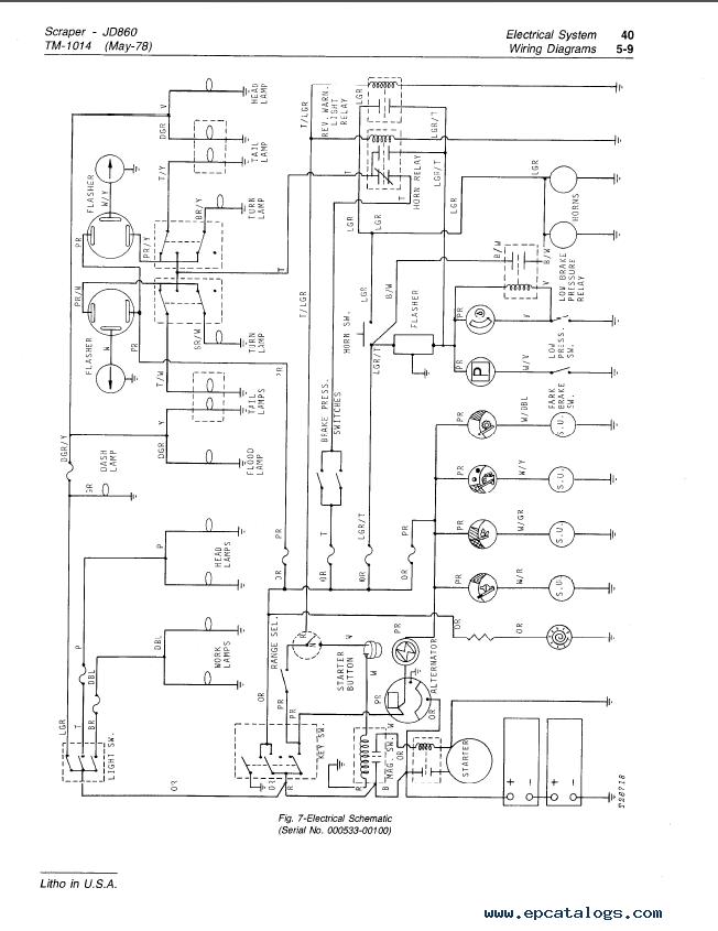 john deere 860 860a scrapers tm1014 technical manual pdf