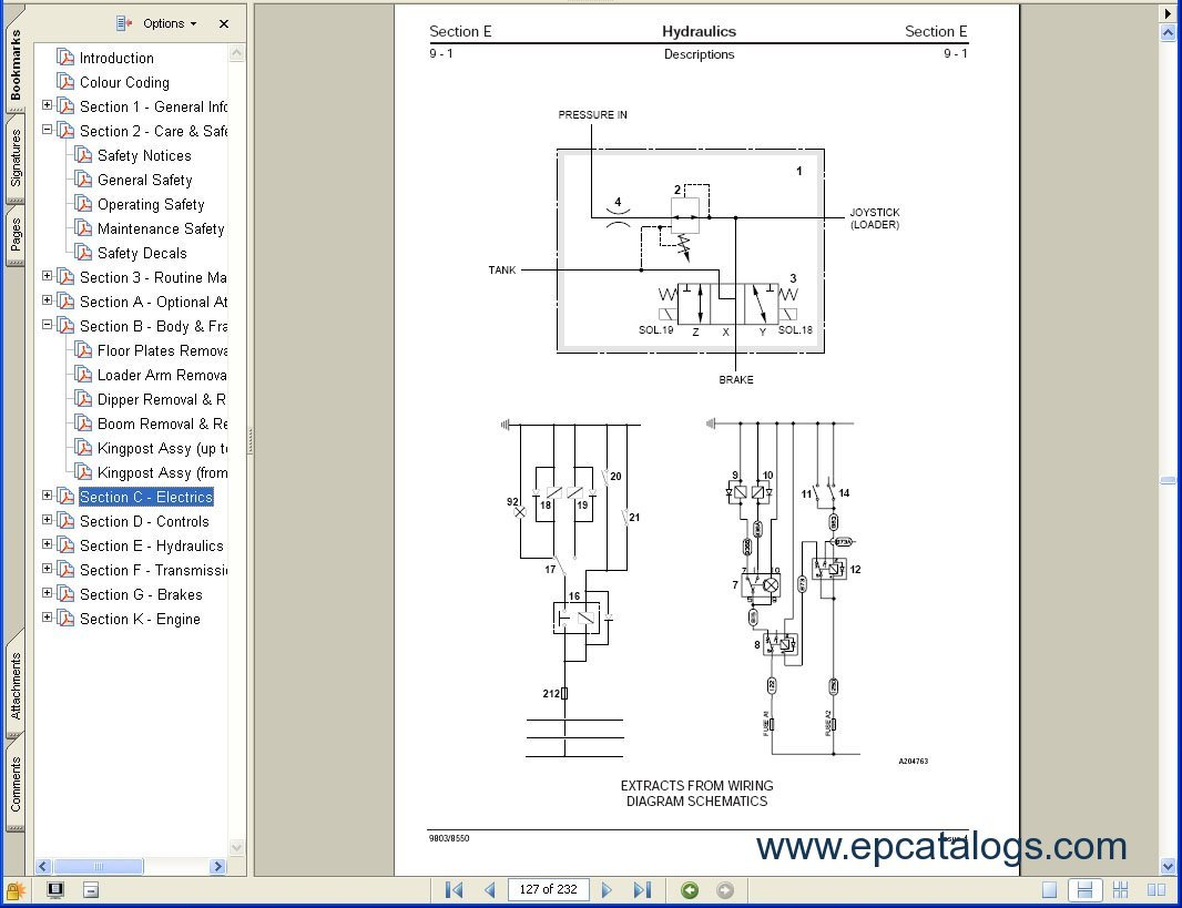 Jcb 1400 Wiring Schematic Diagram 240v Stove Free Download Excavators Service Manuals S3a Massey Ferguson
