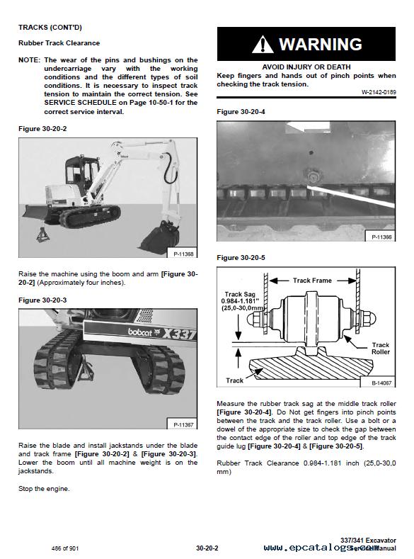 Bobcat 337  341 Excavator D Series Service Manual Pdf