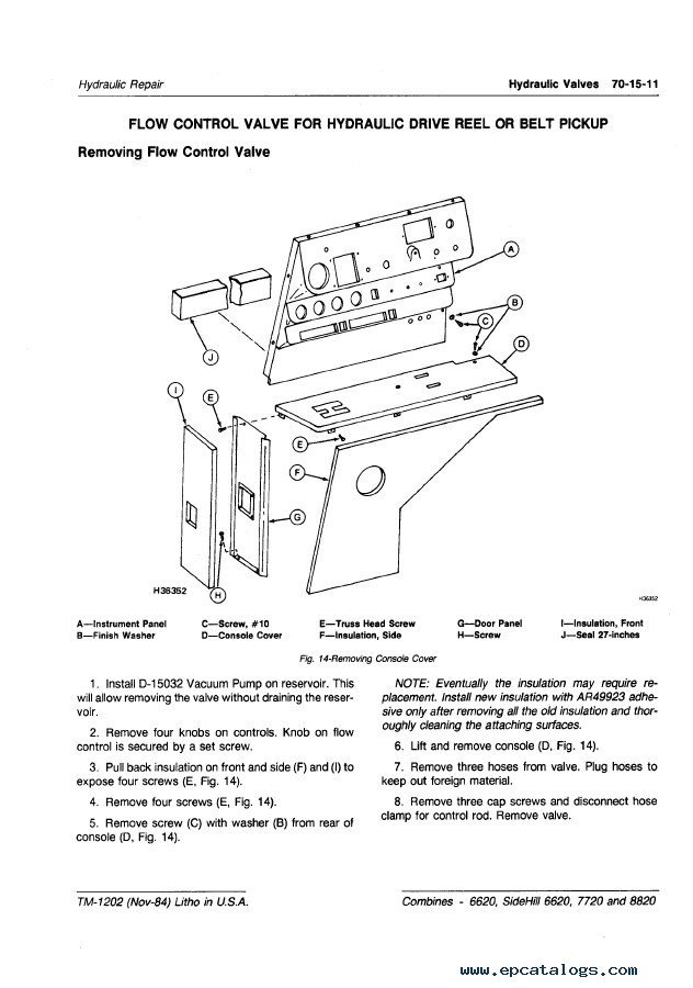 6620 John Deere Combine Wiring Diagram : John deere sidehill combines pdf manual