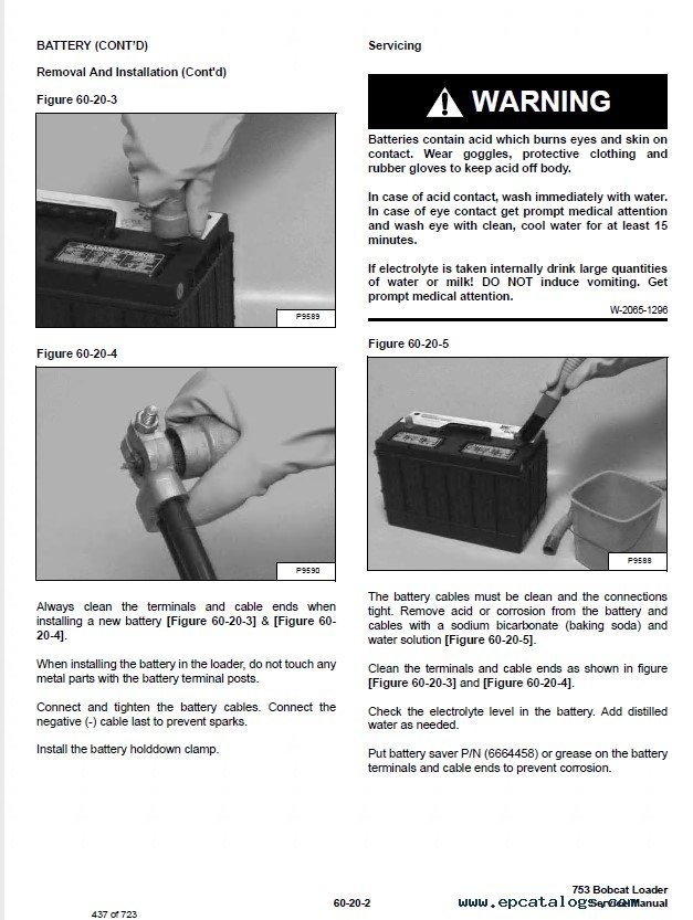 Bobcat G Series Skid Steer Loader Service Manual Pdf