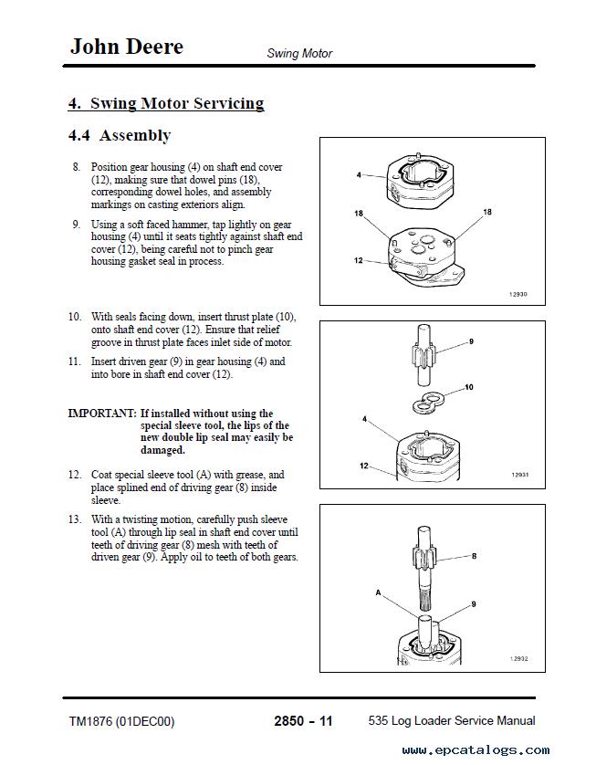 John Deere 535 Log Loader Tm1876 Technical Manual Pdf Manual Guide