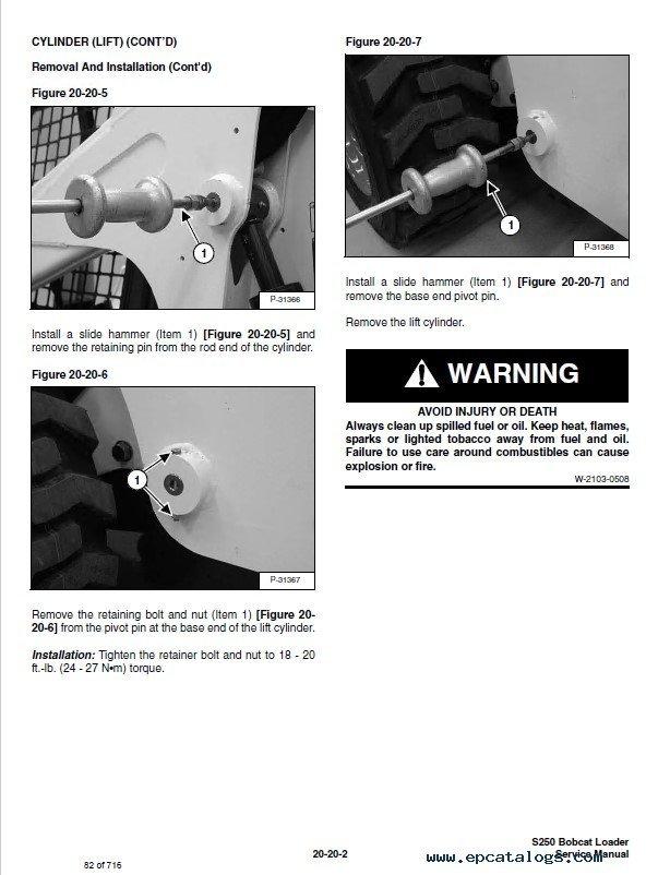 Bobcat S250 Turbo, S250 Turbo High Flow Loaders Service Manual PDF