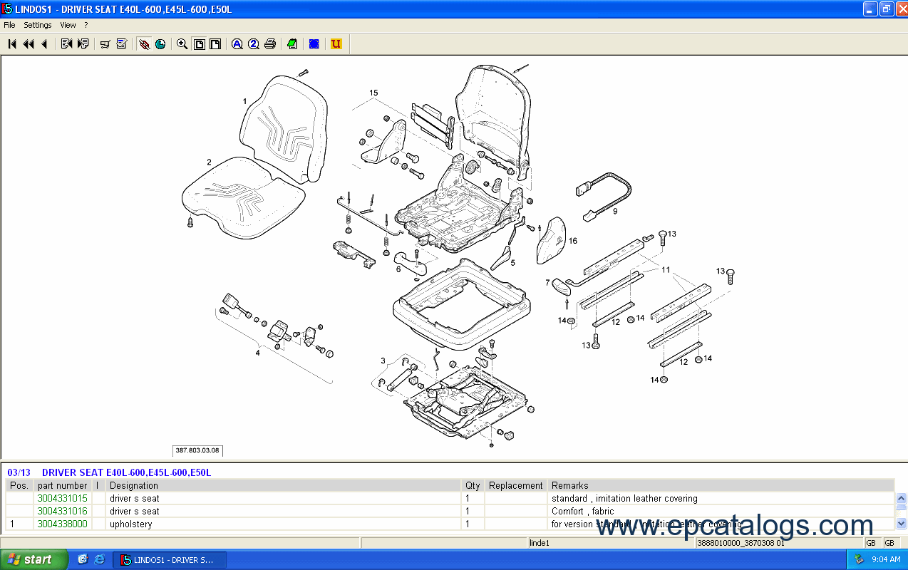 spare parts catalog Linde Fork Lift Truck 2014 Parts Manual - 10