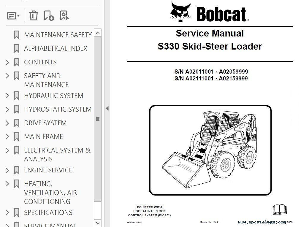 Bobcat Service manuals online