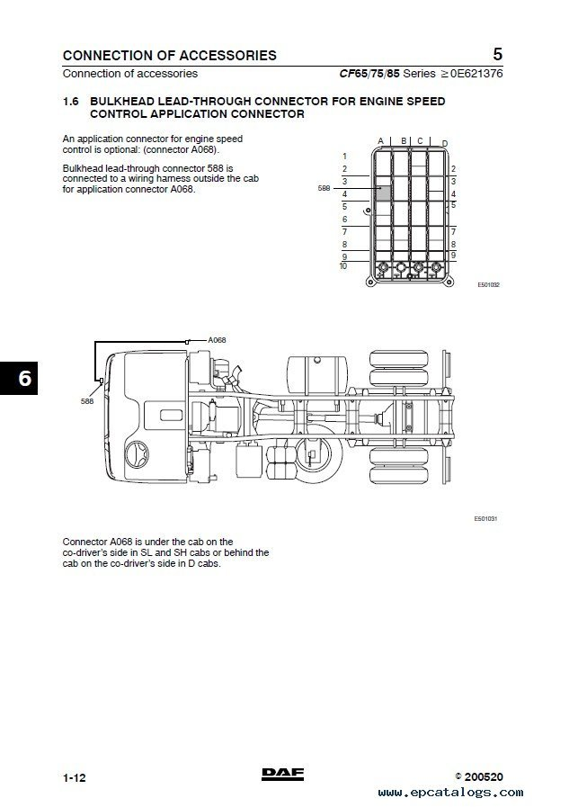 DAF Truck CF65 CF75 CF85 Wiring Diagram Manual PDF