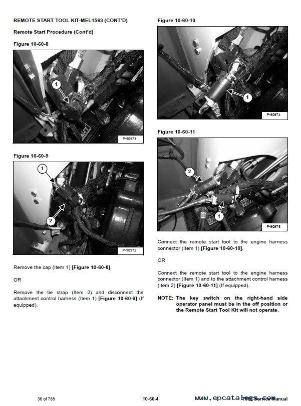 Track Loader For Sale >> Bobcat T870 Compact Track Loader Service Manual PDF