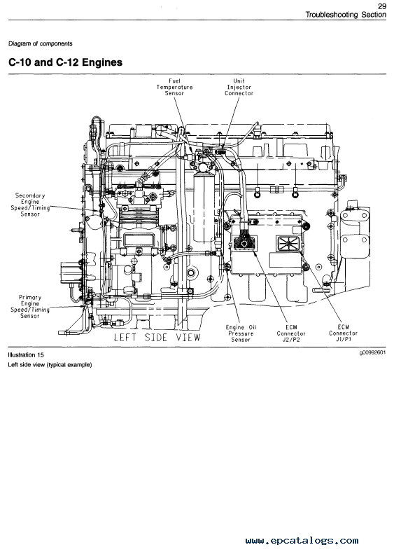 Caterpillar E C C C C C On Highway Engines Troubleshoot Pdf on Cat 3126 Engine Sensor Locations