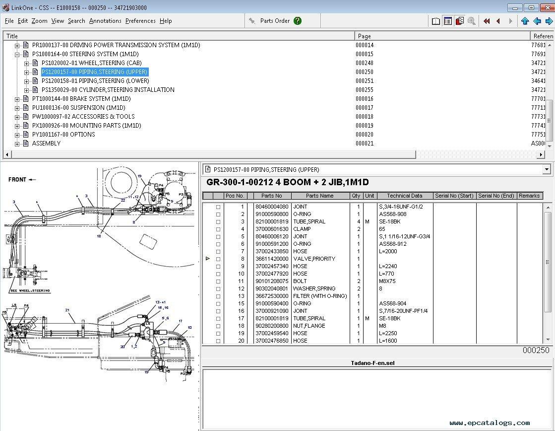Tadano Crane Spare Parts Uae : Tadano spare parts catalog full offline with all
