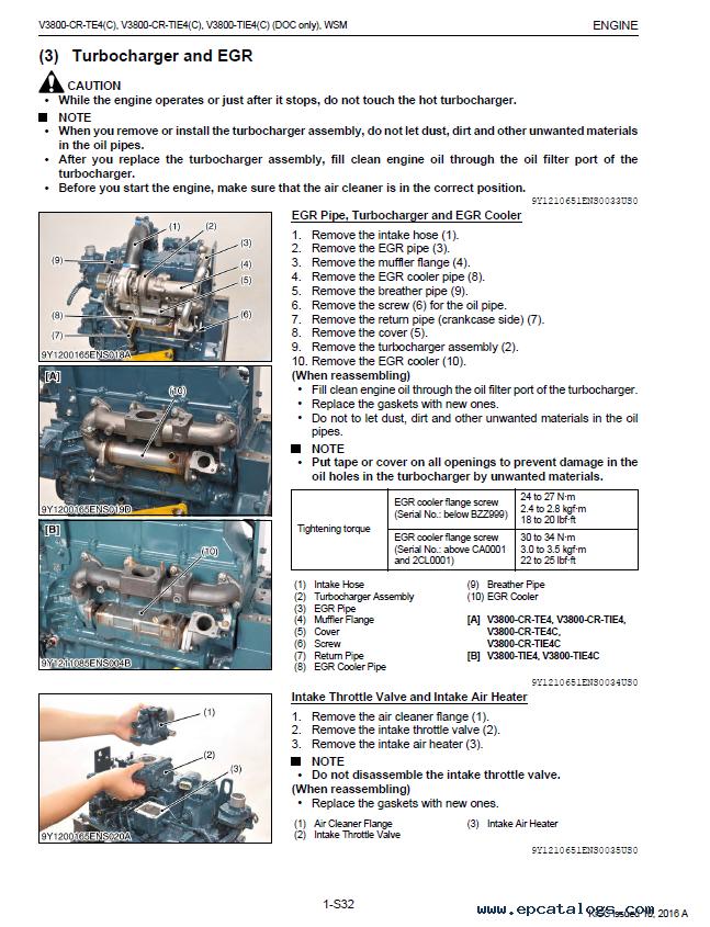 kubota v3800 cr te4 oem engines shop manual pdf 9y111 06514 rh epcatalogs com kubota v3800 workshop manual kubota v3800 repair manual