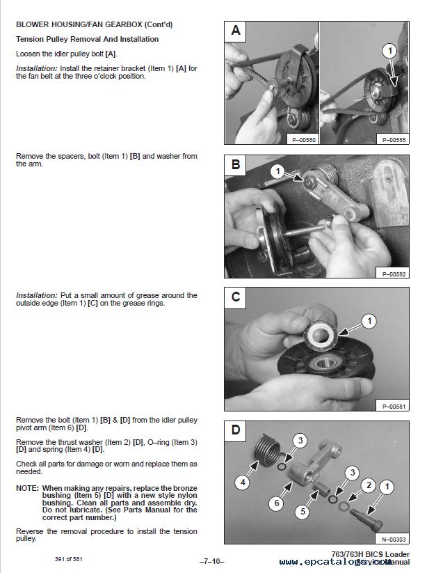bobcat 763 763 high flow loaders service manual pdf control wiring schematics #7