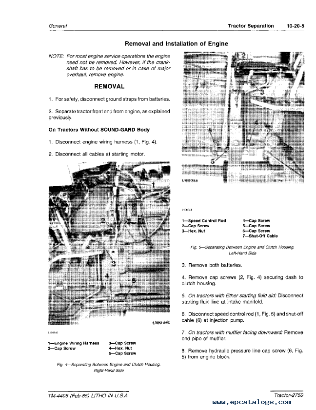 Repair Manual John Deere 2750 Tractor Tm4405 Technical Pdf 3: 2750 John Deere Alternator Wiring Diagram At Mazhai.net
