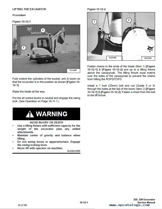 Bobcat Excavator D Series Service Manual Pdf