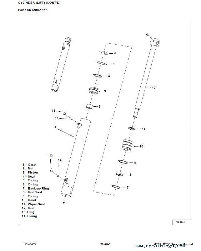 Bobcat MT52, MT55 Mini Track Loader Service Manual PDF
