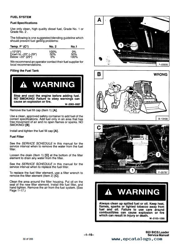 bobcat 653 skid steer loader service manual pdf