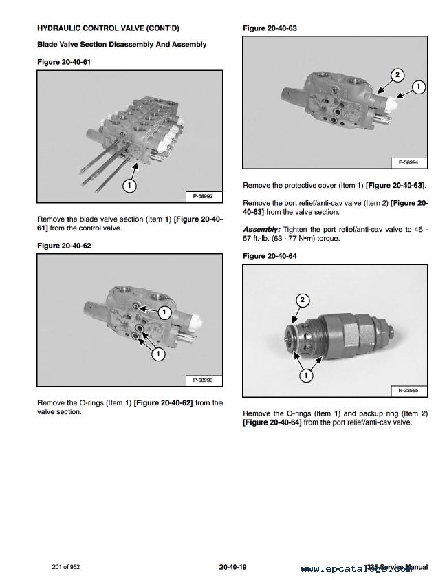Bobcat 335 Compact Excavator Service Manual Pdf