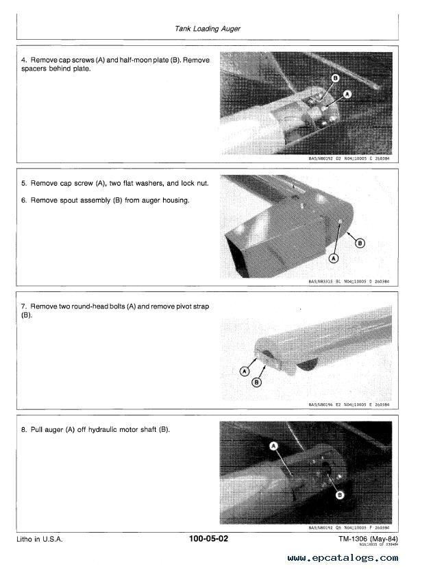 John Deere 655, 665 Central Metering Seeder 770, 775, 780, 785 Air Drill  TM1306 Technical Manual PDF