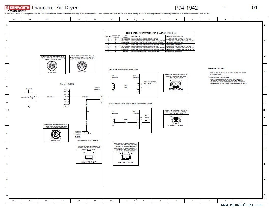 paccar engine wiring diagram