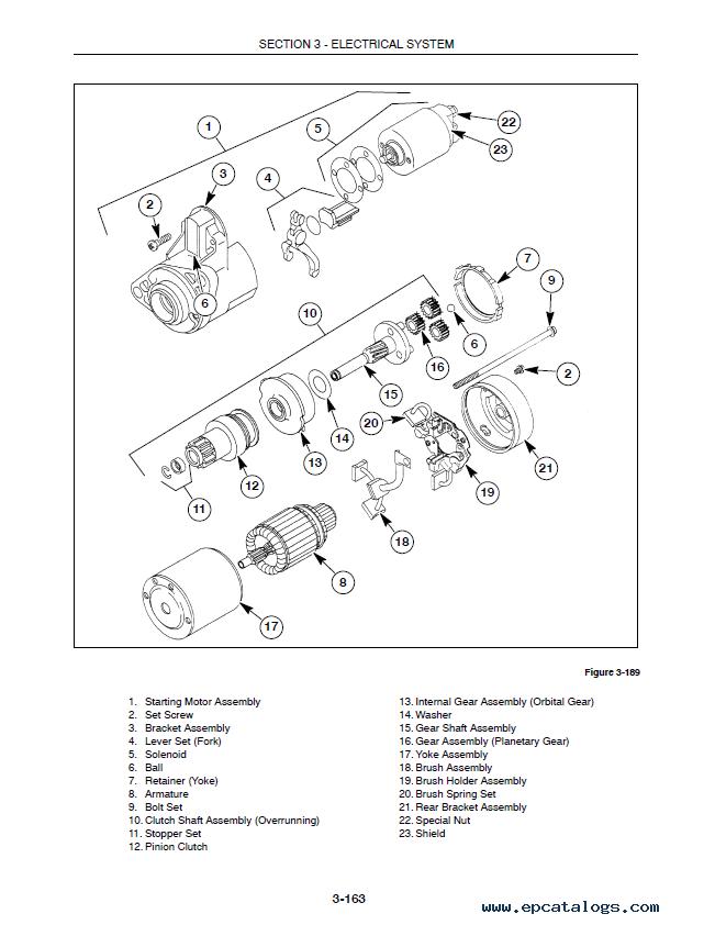 New holland Tc29 parts Manual