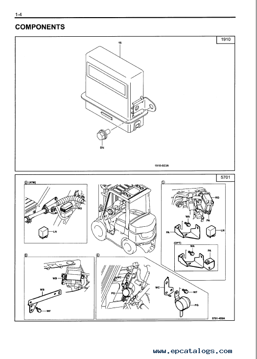 toyota 7 fd series forklift trucks set of pdf manuals