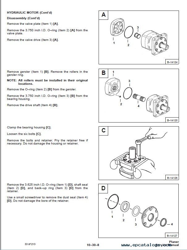 Bobcat planer operating Manual