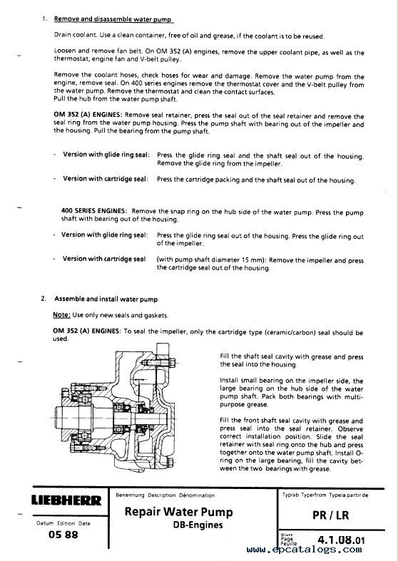 liebherr lr 611 641 crawler loaders service manual pdf rh epcatalogs com Maintenance Manual HP Owner Manuals