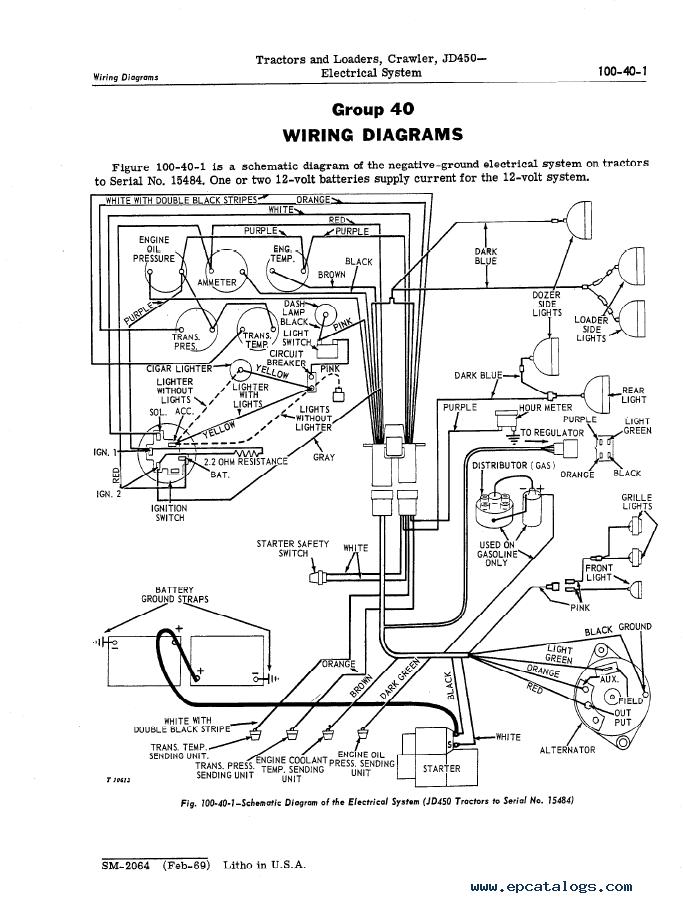 engine diagram for john deere 3320 john deere jd450 crawler tractor and loader pdf sm2064 wiring diagram for john deere 2040 tractor
