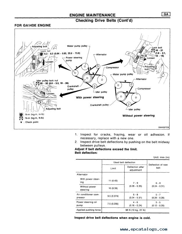 Nissan almera n series  service manual pdf