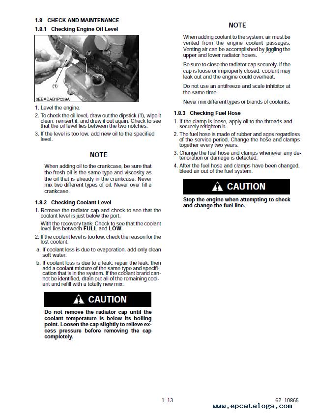 Kubota v2203 service Generator Manual