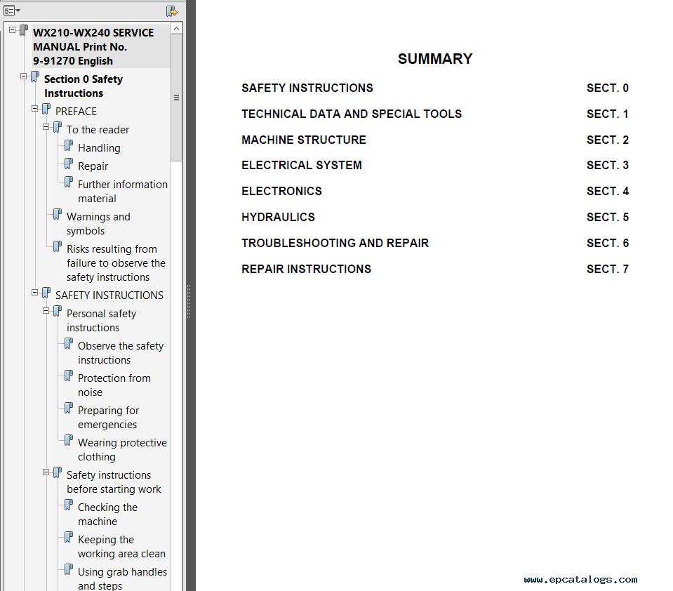 Case wx210 wx240 hydraulic excavator service manual pdf repair enlarge biocorpaavc Choice Image