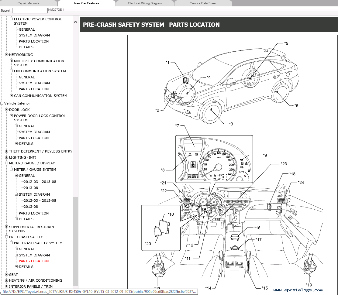 lexus interior parts catalog