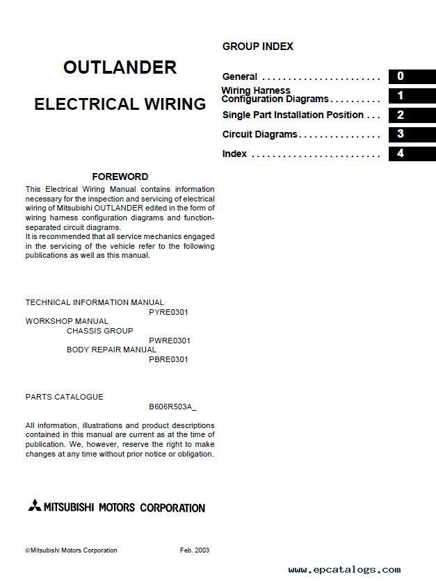 2003 mitsubishi outlander repair manual