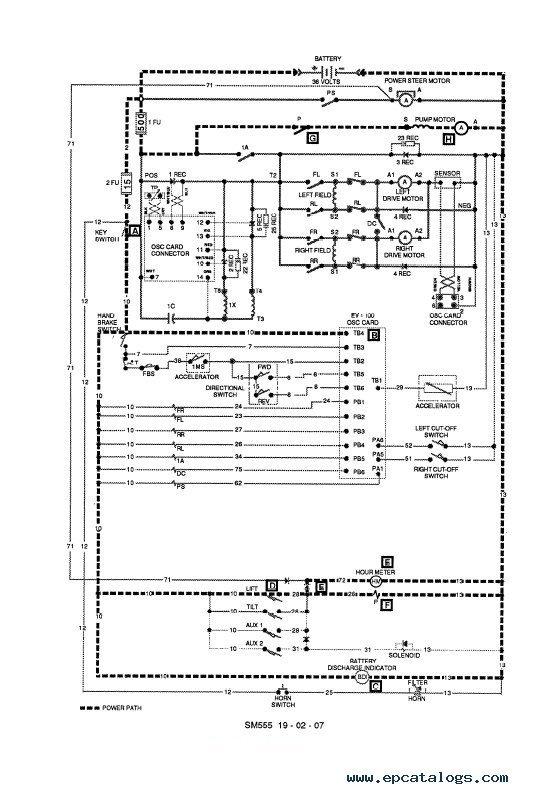 clark tm 12 25 36volt ev 100 supplement sm555 pdf manual rh epcatalogs com Scissor Lift Parts Upright Lift