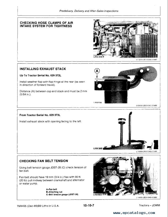 John Deere 2155 2355n Tractors Repair Tm4435 Pdf Manual