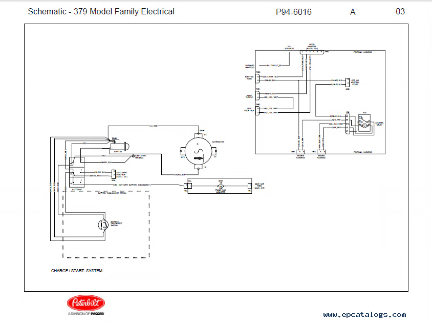 peterbilt truck 379 model family electrical schematic