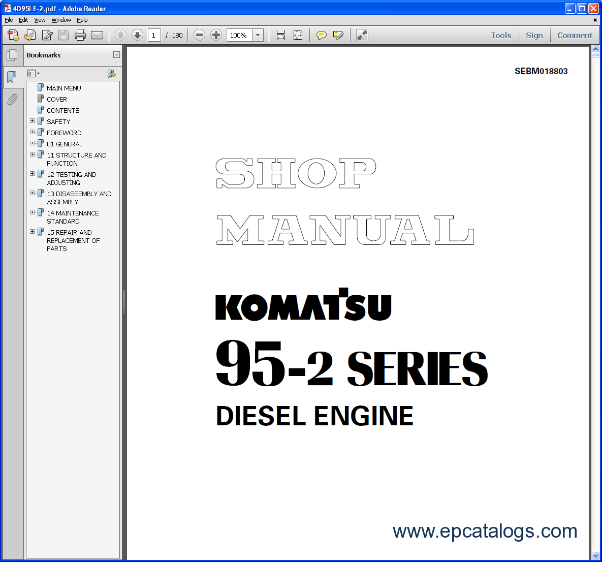 repair manual Komatsu CSS Service Engines - 3