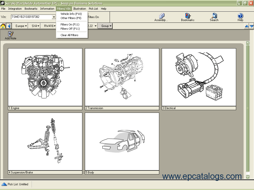 Suzuki worldwide automotive epc 2012 spare parts catalog download enlarge cheapraybanclubmaster Images