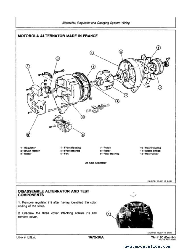 john deere 300 series oem engines technical manual tm1190 repair enlarge