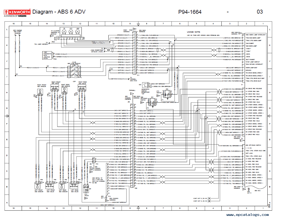 Electrical Wiring Circuit Diagram Kenworth T600 Data W900 Schematic Ecm Touch Diagrams