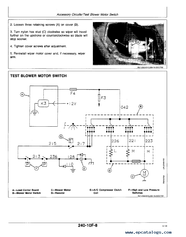 john deere 4055 4255 4455 tractors tm1459 operation & tests John Deere Lawn Mower Wiring Diagram john deere 4055 wiring schematic