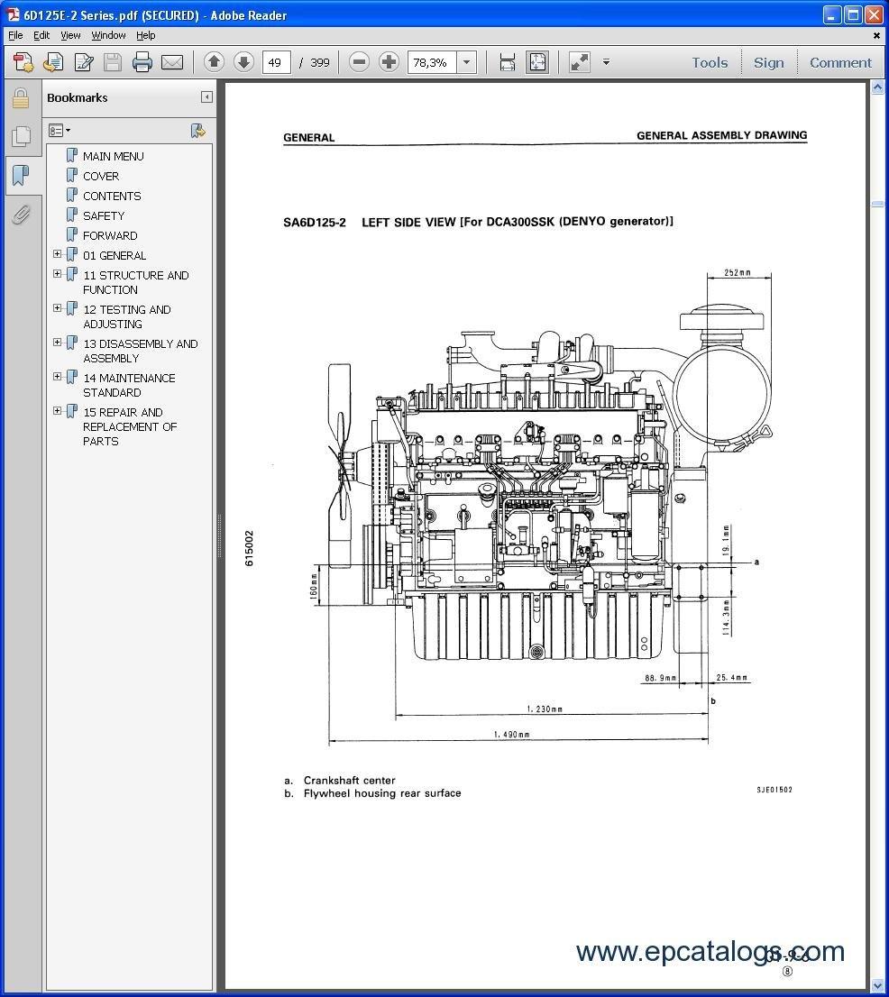 komatsu css service engines repair manual engines. Black Bedroom Furniture Sets. Home Design Ideas